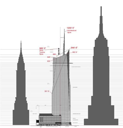 Chrysler Building Height by New York Architecture Images Bank Of America Tower 1