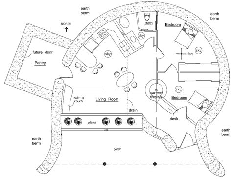 organic free form earthbag house plans