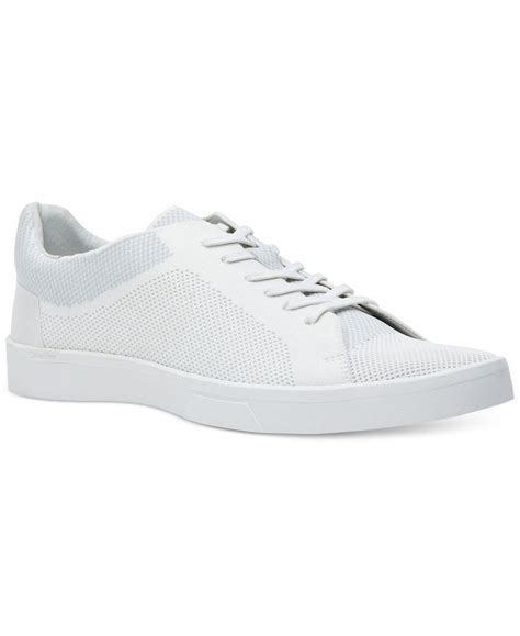 calvin klein sneakers mens calvin klein s ion knit weave textured sneakers in