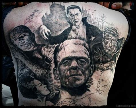 ghost tattoo 78 creeptastic horror tattoos for back
