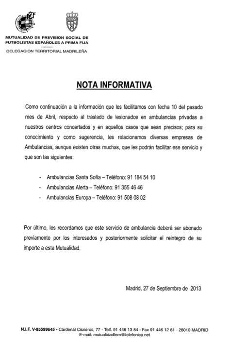 imagenes nota informativa nota informativa normas asistenciales en caso de lesi 243 n