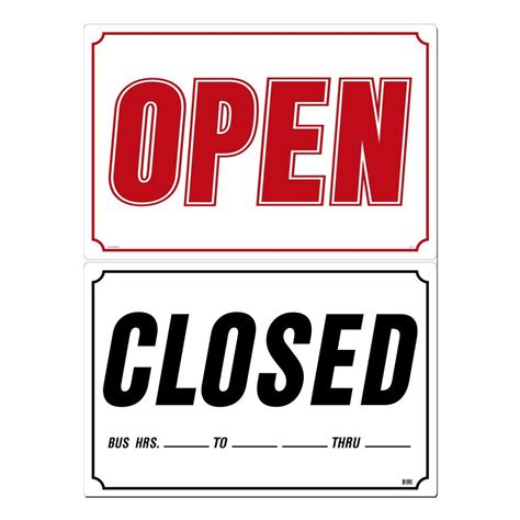 Acrylic Open Closed Buka Tutup lynch sign 33 in x 22 in open closed sign printed on more durable thicker longer lasting