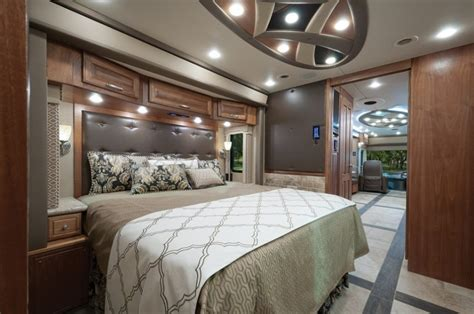 rv with king size bed realm of one motorhome magazine regarding rv with king