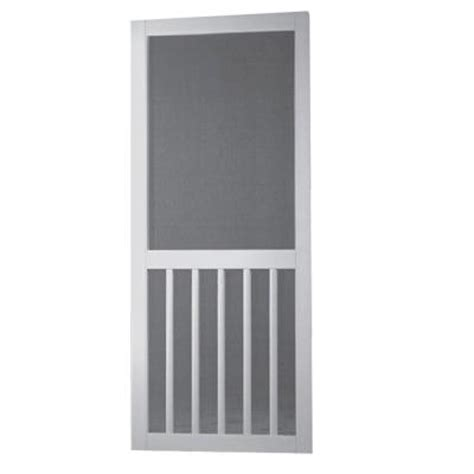 screen tight 36 in solid vinyl white screen door with