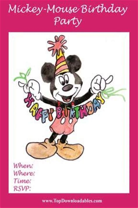 Diy Mickey Mouse Party Flyer Invitation Template To Download Unique Art Free Printable Mickey Disney Flyer Template