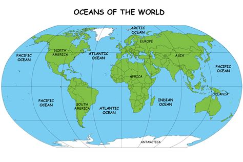 map world oceans all about oceans of the world earth science facts for