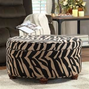 Animal Print Storage Ottoman Kinfine Animal Print Storage Ottoman Modern Footstools And Ottomans By Hayneedle