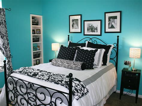 blue black and white bedroom turquoise and black color scheme archives panda s house 1 interior decorating idea
