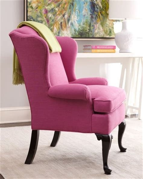 Pink Wingback Chair Design Ideas Pink Wingback Chair Upholstery Pinterest