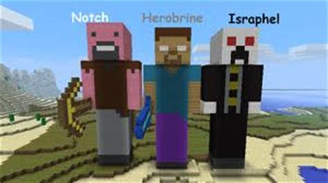 notch herobrine and israphel by jessica23809 on deviantart