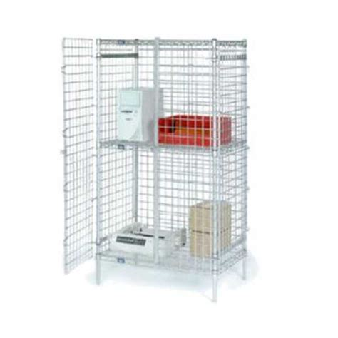 nexel poly z brite 24x36x66 wire security shelving unit