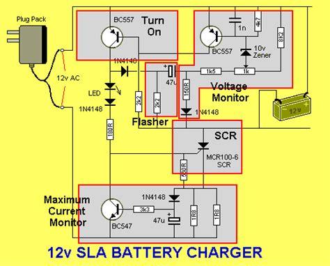 sla battery charger 12v electronic circuits battery charger for 12v sla