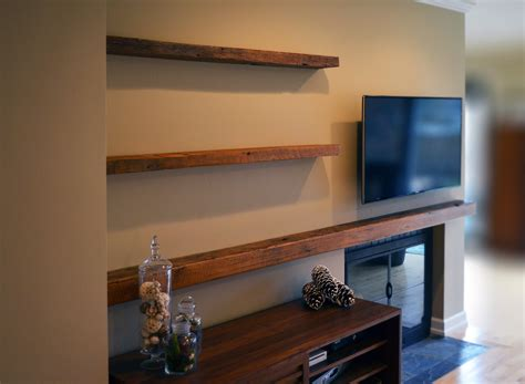 reclaimed lumber floating shelves abodeacious