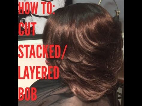 how do i cut a diy stacked bob how to cut stacked bob easiest way ever youtube