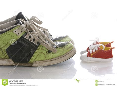 shoes for with big large and small shoes stock image image of sport baby