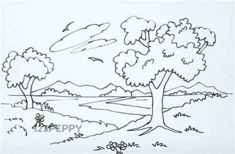 drawn to nature a natural landscape drawing nature drawing nature and drawings