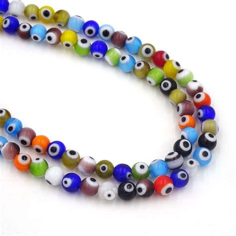 bead suppliers 126pcs 6mm glass turkish evil eye seed