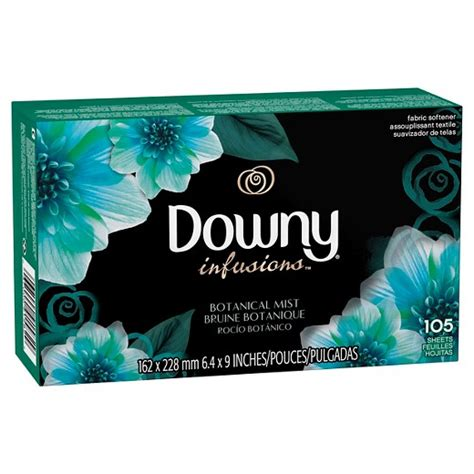 fabric for sheets downy infusions botanical mist fabric softener sheets
