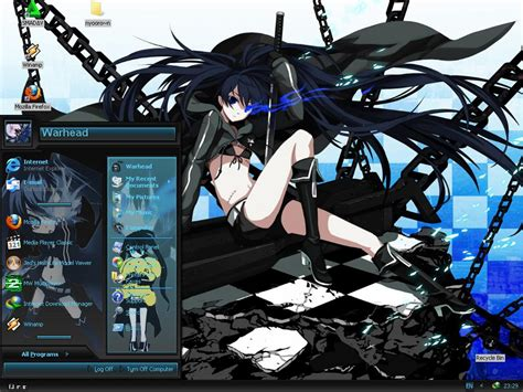 theme psp black rock shooter black rock shooter theme for win xp addon anime fans of