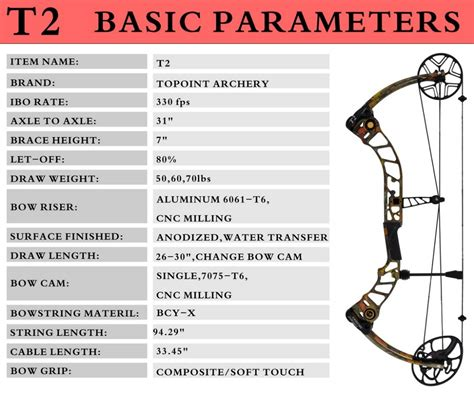 Compound Bow Topoint T1 Luxury Package topoint archery compound bow t2 luxury package cnc milling