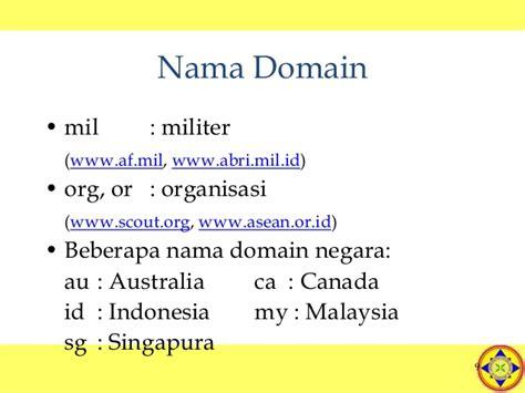Nama Domain Untuk Organisasi Militer