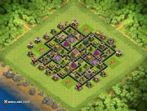 Spread out th8 base th8 clash of clans farming base layout