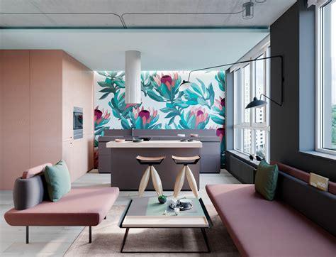 interior design  pink  green  examples