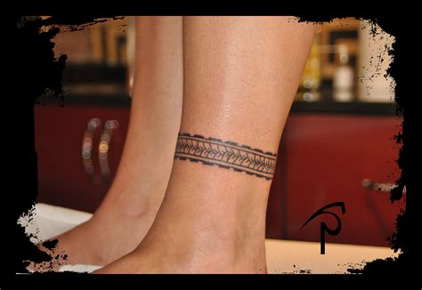 tribal ankle band tattoos polynesian ankle band polynesian