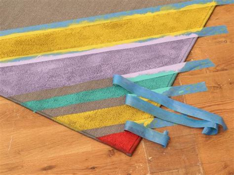 how to paint an outdoor rug how to paint colorful stripes on a rug hgtv