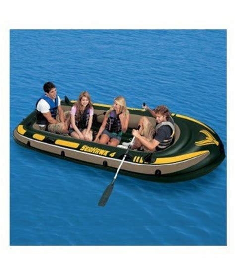 inflatable boat online india inflatable fishing drifting boat boat with 4 life jacket