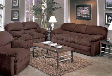espresso micro suede oversized sofa loveseat set