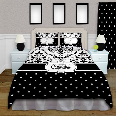 black and white damask pattern bedding black and white polka dot bedding with damask pattern