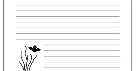 spooky writing paper spooky free printable writing paper
