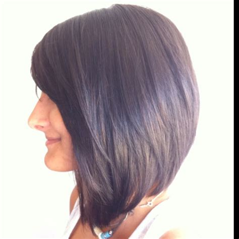 angled bob colored hair long angled bob hair pinterest bobs cut and color