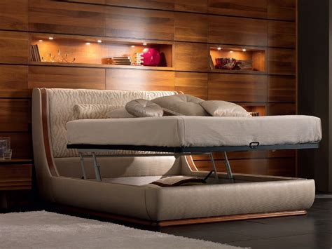 With Bed by Elettra Bed With Upholstered Headboard By Cantiero