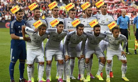 Real Madrid Club real madrid field most expensive team in football history for cup win sevilla metro