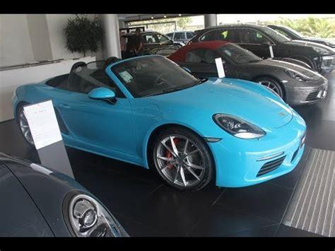 miami blue porsche 718 miami blue rara cor num porsche 718 boxster s youtube