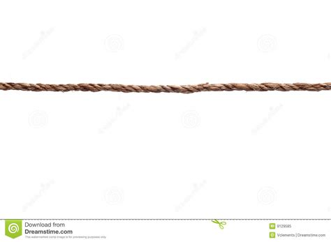 a tightly stretched length of rope stock image image