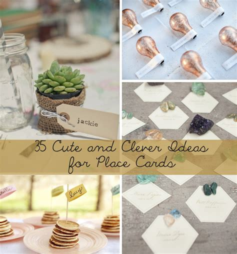place card ideas 35 and clever ideas for place cards