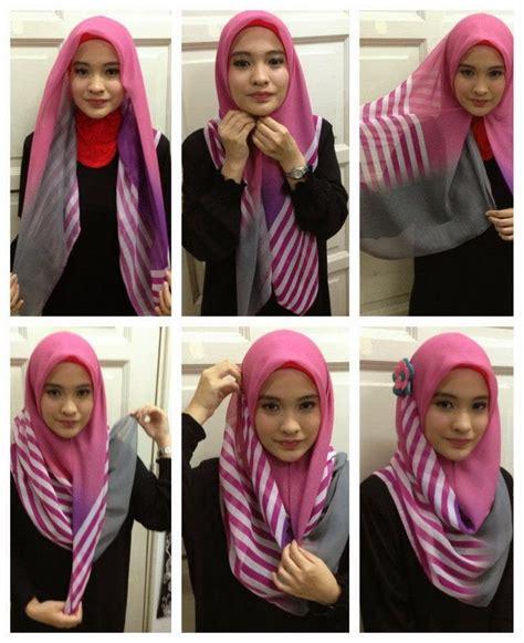 Jilbab Segi Empat 2 Dimensi Cara Berhijab Yang Simple Dan Cantik 2016