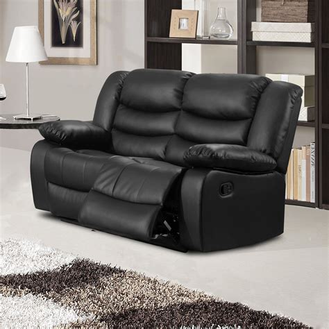 black leather sofa recliner belfast black recliner sofa collection in bonded leather