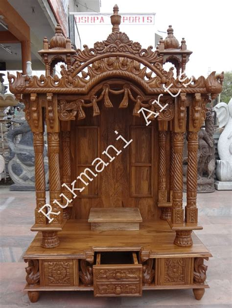 code 65 wooden carved teakwood temple mandir wooden
