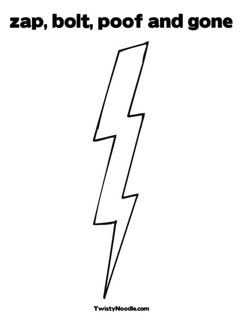 lightning bolt coloring page coloring pages