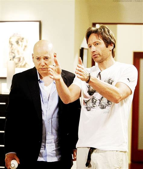 Duchovny Back On Tv by Fuckmeduchovny Duchovny Directing Evan Handler