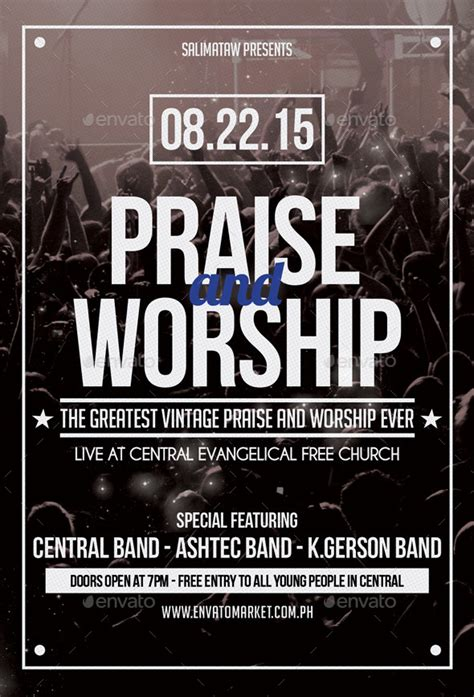 praise and worship flyer poster by salimataw10