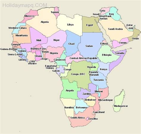 africa map by country map of africa with countries map travel