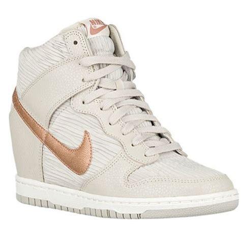 Fdl 503 Sendal Wedgea Casual nike dunk sky hi light brown metallic bronze light bone shoe fashion my style