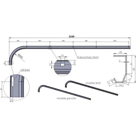 rail de guidage pour porte de garage sectionnelle