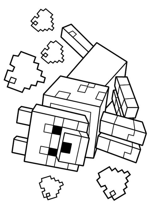 coloring pages minecraft wolf 40 printable minecraft coloring pages