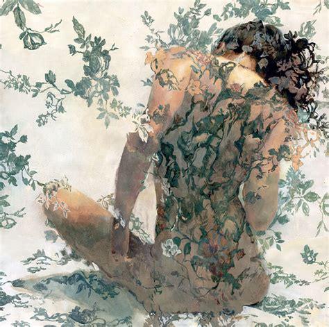 fiori e donne sergio nudi femminili sbocciano tra i fiori